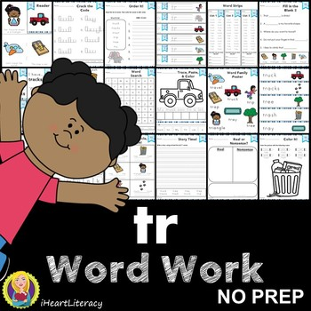 Word Work tr R Blends NO PREP