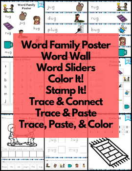 ug Word Family Word Work and Activities - Short U