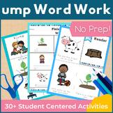 ump Word Family Word Work and Activities - Short U