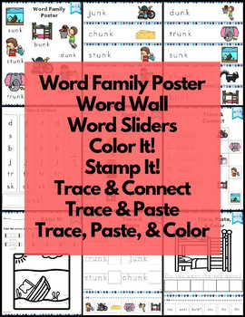 unk Word Family Word Work and Activities - Short U