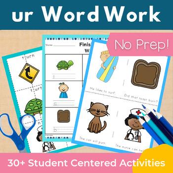 Word Work ur R Controlled Vowels NO PREP