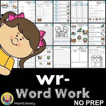 Word Work wr Silent Letters NO PREP