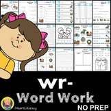 wr Word Family Word Work and Activities - Silent Letters