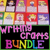 NO PREP Writing Crafts BUNDLE (FULL YEAR of Writing Prompts with Pictures)