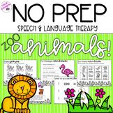 NO PREP Zoo-Themed Speech and Language Activities!