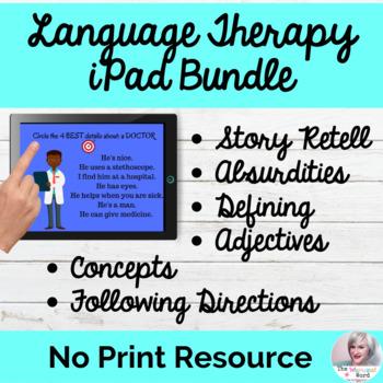 NO PREP iPad Bundle Elementary Language Skills NO PRINT