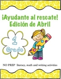 NO PREP literacy. math and writing activities in Spanish