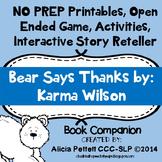 NO PREP worksheets, Activites and games BEAR says THANKS B