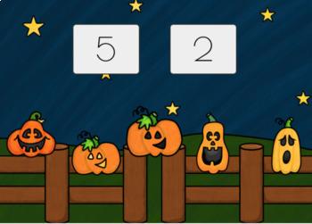 "NO PRINT ""5 Little Pumpkins Sitting on A Gate"" (BOOM CARD LESSON)"