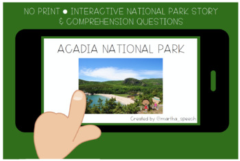 No Print Acadia National Park Story Comprehension Questions Tpt