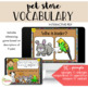 NO PRINT All About Pets Receptive and Expressive Language Bundle