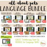 NO PRINT Digital Desk Pets Receptive Expressive Language Bundle