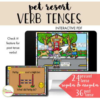 NO PRINT All About Pets Unit IV - Pet Resort Verbs