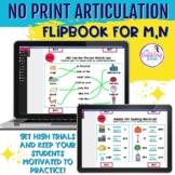NO PRINT Articulation Flipbook for /m,n.