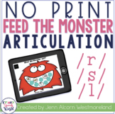 NO PRINT R, S, L Articulation Monsters for Speech Therapy