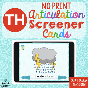 NO PRINT Articulation Screener: TH | Teletherapy | Distance Learning