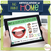 NO PRINT Articulation at Home - R Edition for Distance Learning