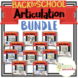 NO PRINT Back to School Articulation BUNDLE Teletherapy &