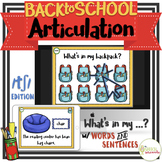 NO PRINT Back to School Articulation - CH Edition