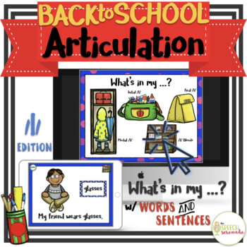 NO PRINT Back to School Articulation - L Edition