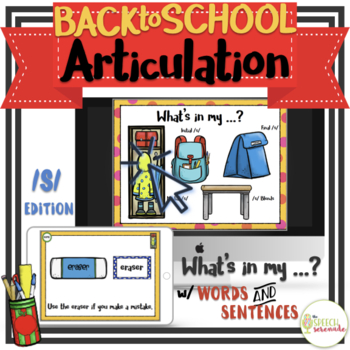 NO PRINT Back to School Articulation - S Edition