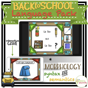 NO PRINT Back to School Language Pack