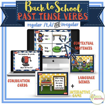 NO PRINT Back to School Regular and Irregular Past Tense Verbs