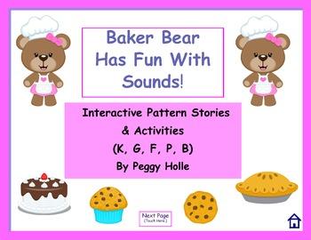 NO PRINT Baker Bear Has Fun With Sounds K, G, F, P, B Inte