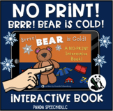 NO-PRINT Bear is Cold Interactive Book