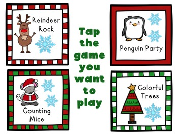 NO-PRINT Christmas Themed Basic Concepts Game!