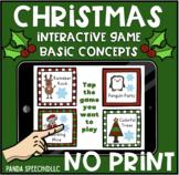 NO-PRINT Christmas Themed Basic Concepts Game!