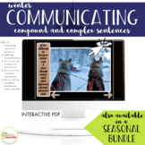 NO PRINT Winter Communicating Compound & Complex Sentences