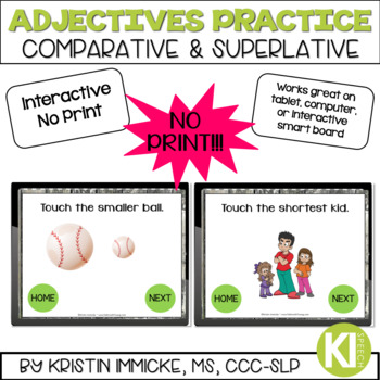 NO PRINT Comparative & Superlative Adjectives for Speech Language Therapy
