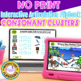 NO PRINT Consonant Cluster Flipbooks - Distance Learning