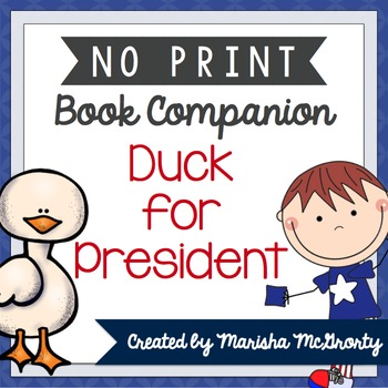 NO PRINT Duck for President {Book Companion}