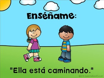 ¿Él o Ella? Pronoun NO PRINT w/ Printable Mini-Book - Spanish Speech Therapy