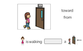 NO PRINT Expanding Sentences using Prepositions (A BOOM CARD LESSON)