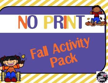 NO PRINT Fall Activity Pack