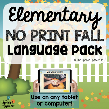 NO PRINT Fall Elementary Language Pack