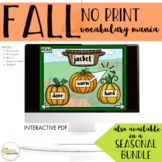 NO PRINT Fall Vocabulary Mania