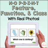 NO PRINT Feature, Function, & Class with Real Photos