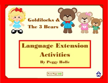 NO PRINT Goldilocks & the Three Bears Speech and Language