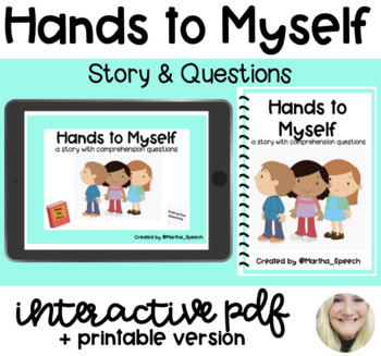 NO PRINT - Hands to Myself Social Story
