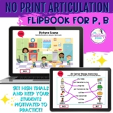 NO PRINT Interactive Articulation Flipbook for /p,b/