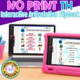 NO PRINT Interactive Articulation Flipbook for voiced and