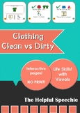 NO PRINT Interactive PDF - Clean vs Dirty Clothing