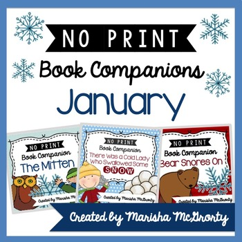 NO PRINT January Book Companion {BUNDLE}