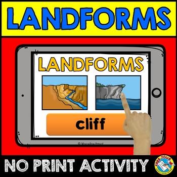 LANDFORMS ACTIVITIES: NO PRINT LANDFORMS INTERACTIVE ACTIV
