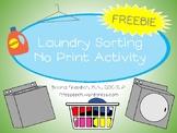 NO PRINT Laundry Sort Freebie