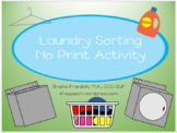 NO PRINT Laundry Sorting Activity for iPad, Tablet, or Computer